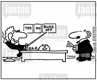 decision makers cartoon humor: 'Yes. no, buzz off!'