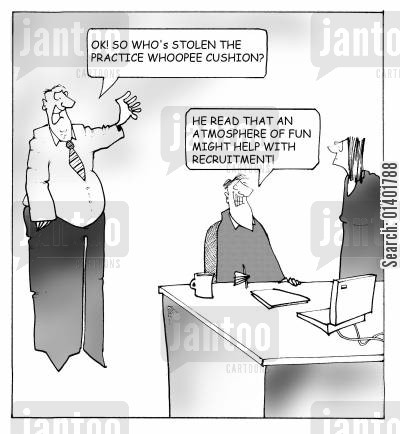 office joke cartoon humor: Fun office atmosphere.