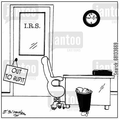 out to audit cartoon humor: Out to Audit.