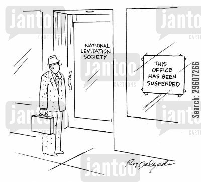 societies cartoon humor: This office has been suspended.