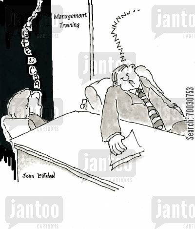 strategy cartoon humor: Management Training