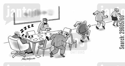 snooze cartoon humor: Sleeping boss.