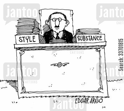 quantity cartoon humor: Style and Substance.