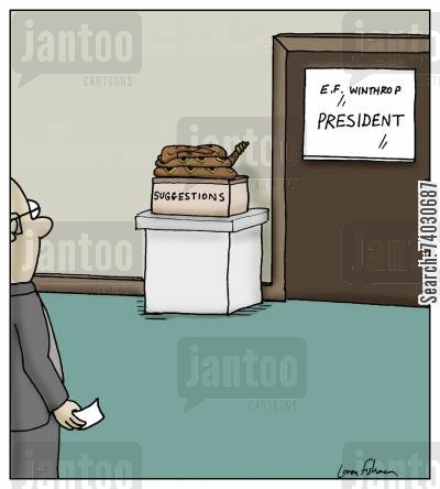 initiatives cartoon humor: Suggestions Box