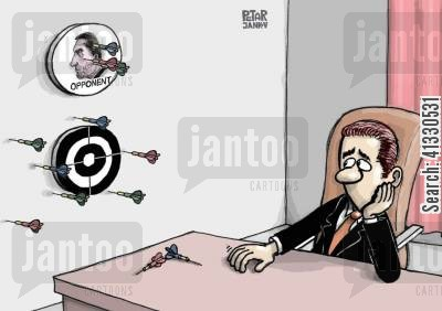bullseye cartoon humor: Targeted opponent