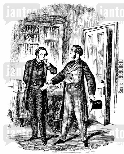 victorian man cartoon humor: Victorian Office