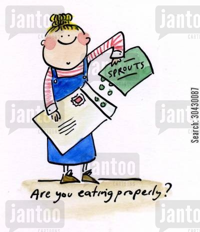 eating properly cartoon humor: Are you eating properly?