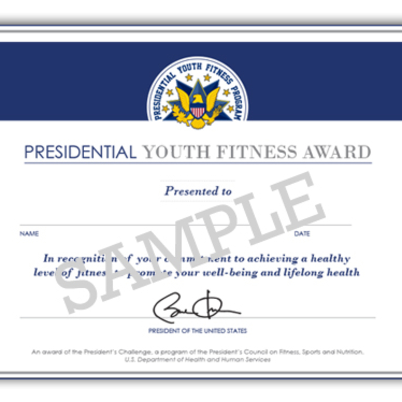 PYF Award Certificate