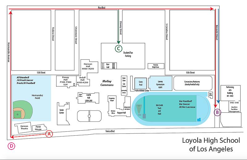 Loyola Law School Campus Map.Loyola High