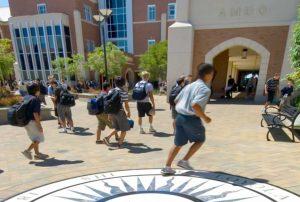 Loyola High School Students Walking into school