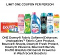 Save $1.00 on Downy® Fabric Softener/Enhancer, Unstopables Fabric Care Product, Bounce® Sheets, Downy® Fresh Protect, Downy® Infusions, Bounce® Bursts, Dreft® Blissfuls or Gain® Fireworks In Wash Scent Boosters
