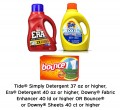 Save $1.00 on Tide® Simply Detergent 37oz or higher, Era®...