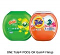 Save $2.00 on ONE Tide® Pods or Gain® Flings