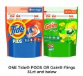 Save $2.00 on ONE Tide® Pods or Gain® Flings 31ct and below