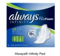 Save 75¢ off Always Infinity OR Radiant Pad