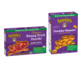 Save 50¢ off ONE (1) PACKAGE of any Annie's™ Snacks listed: Bunny Fruit™ Snacks, Fruit Bites, Really Peely™ Fruit Tape, Cheddar Bunnies®, Cheddar Squares, Classic Crackers, Bunny Grahams®, Graham Crackers, Cookies, Mini Cookie Bites, Grabbits™ Sandwich Cookies, Gluten Free Bunny Cookies™, Gluten Free Granola Bars