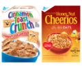 Save $1.00 on TWO (2) BOXES any flavor General Mills Big G Cereals: Cheerios™, Cinnamon Toast Crunch™, Chex™, Lucky Charms™, Cocoa Puffs™, Trix™, Reese's Puffs, Fiber One™, Cookie Crisp™, Golden Grahams™, Kix™, Total™, Wheaties™, Dora the Explorer™, Oatmeal Crisp™, Raisin Nut Bran, Basic 4™, Star Wars™, Tiny Toast™