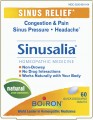 "Save $3.00 on Boiron Sinusalia® Tablets or Pellets. Sinusalia temporarily relieves nasal congestion, sinus pain and headache due to the common cold or allergies.* It does not cause drowsiness. Sinusalia also has no known interactions with other medications. Recommended for everyone ages 6 and up, Sinusalia is available in a box of 60 quick-dissolving tablets or two tubes of approximately 80 quick-dissolving pellets.  *These ""Uses"" have not been evaluated by the Food and Drug."