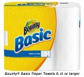 Save $1.00 on Bounty® Basic paper towels 6 ct or large
