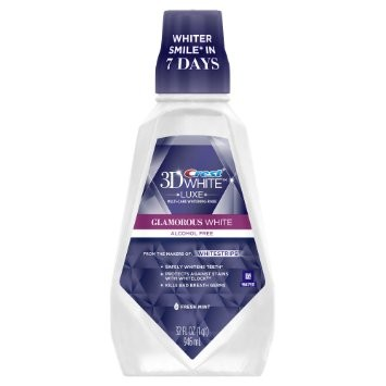 Save $0.75 on Crest® 3D Whitening Rinse 237mL or larger