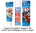 Save 50¢ off Crest® Pro-Health™ Stages™ OR Crest® Kids...