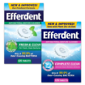 SAVE $1.00 on any one (1) Efferdent® Denture Cleanser 24 count or higher