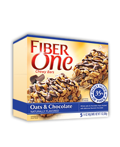 Save $0.50 on TWO BOXES any flavor Fiber One™ Chewy Bars, Fiber One™ 90 Calorie Products (Bars, Brownies, Cakes)