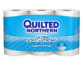 Save 50¢ off ONE (1) Quilted Northern Ultra Soft and Strong® Bath Tissue, 6 Double Roll or larger