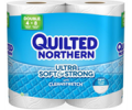 Save 55¢ on any ONE (1) Quilted Northern® bath tissue, 6 Double...