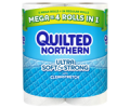 Save 50¢ on any ONE (1) Quilted Northern® Ultra Soft & Strong Bath Tissue, 6 Double Roll or larger.