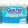 Save $0.25 off any ONE (1) Quilted Northern Ultra Plush® Bath Tissue, 6 Double Roll or larger