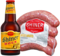 Save $1.00 on any TWO (2) Shiner Smokehouse Sausage or Beer Brats
