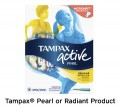 Save $0.75 on ONE Tampax® Pearl or Radiant Product (excludes trial/travel size)