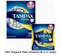 Save $2.00 on TWO Tampax Pearl products 18ct or larger