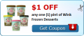 $1.00 off any one (1) pint of Wink Frozen Desserts (ice cream alternative).  Sugar free, fat free, NON-gmo sweetened with Stevia and Monk fruit