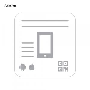 Modelo de adesivo para divulgação do aplicativo