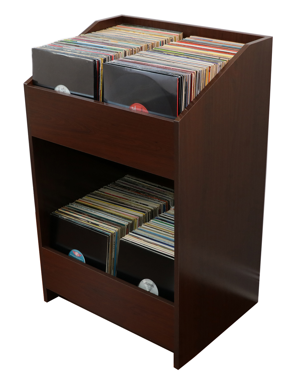 What are some stores that sell storage racks for vinyl records?