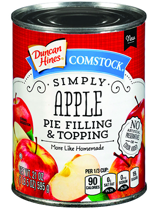 Duncan Hines Comstock® Simply Apple Pie Filling & Topping