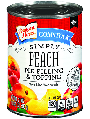 Duncan Hines Comstock® Simply Peach Pie Filling & Topping