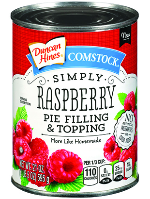 Duncan Hines Comstock® Simply Raspberry Pie Filling & Topping