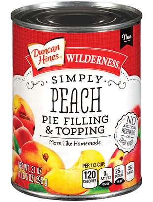 Duncan Hines Wilderness® Simply Peach Pie Filling & Topping