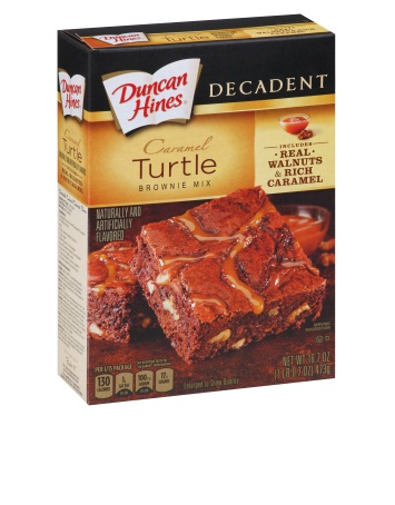 Caramel Turtle Decadent Brownie Mix