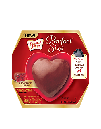 Duncan Hines® Perfect Size Red Velvet Crush Heart-Shaped Cake