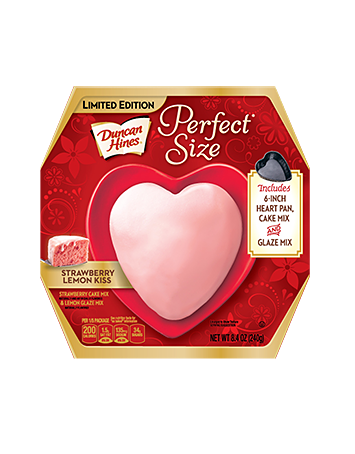 Duncan Hines® Perfect Size Strawberry Lemon Kiss Heart-Shaped Cake