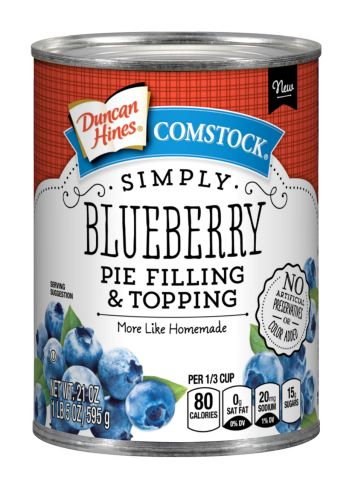 Duncan Hines Comstock® Simply Blueberry Pie  Filling & Topping