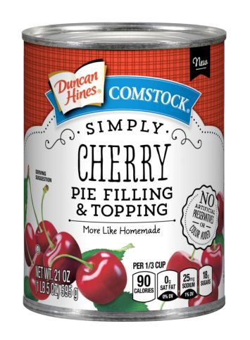 Duncan Hines Comstock® Simply Cherry Pie  Filling & Topping
