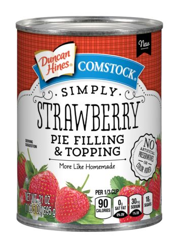 Duncan Hines Comstock® Simply Strawberry Pie  Filling & Topping