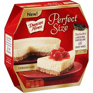 Duncan Hines® Perfect Size Cheesecake