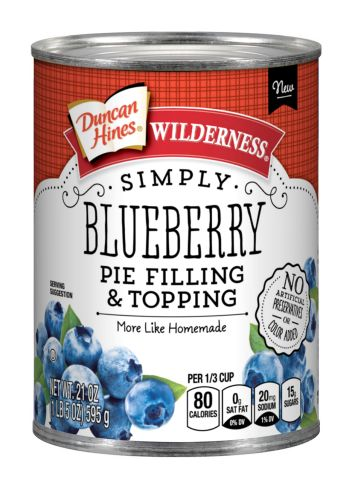 Duncan Hines Wilderness® Simply Blueberry Pie  Filling & Topping