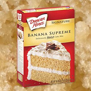 Banana cake using box cake mix recipe